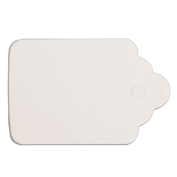 "Merchandise tag #3 without string 7/8""x1-1/4"" - white"