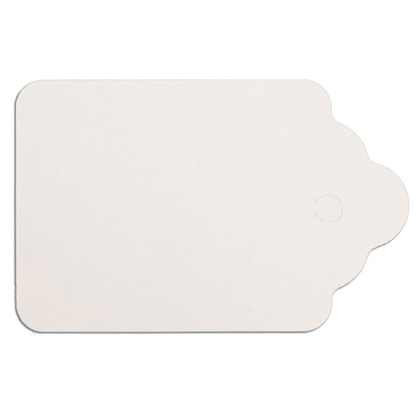 "Merchandise tag #5 without string 1-1/8""x1-3/4"" - white"