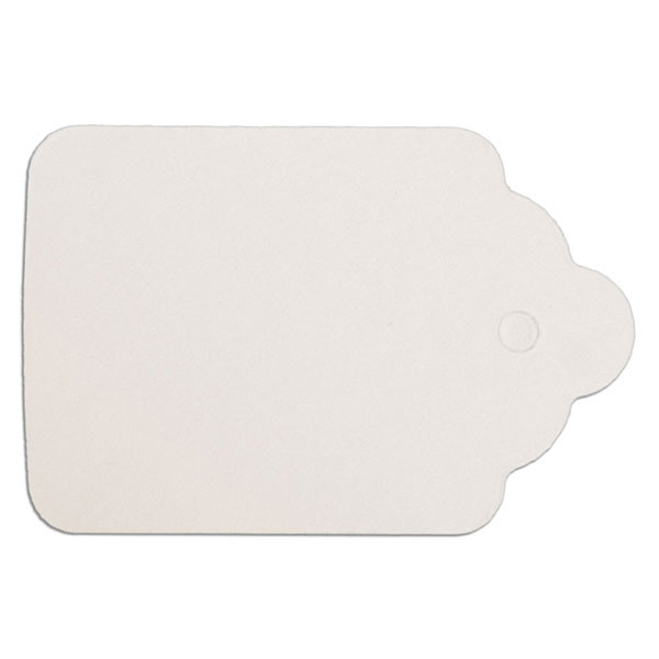 "Merchandise tag #6 without string 1-1/4""x1-7/8"" - white"