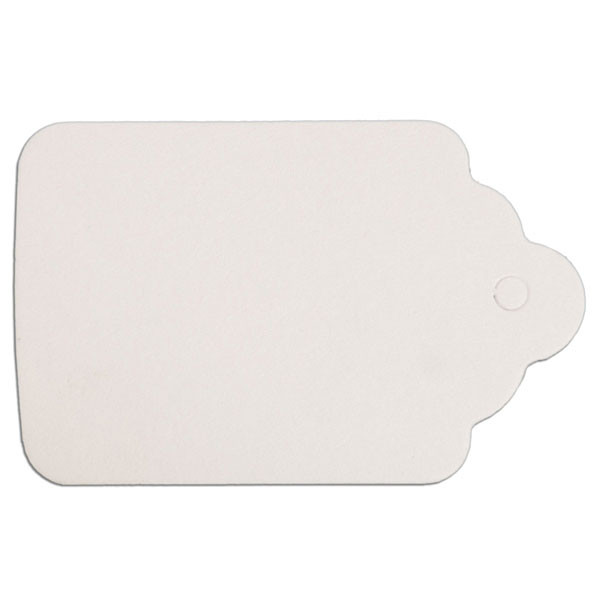 """Merchandise tag #7 without string 1-1/2""""x2-1/8"""" - white"""