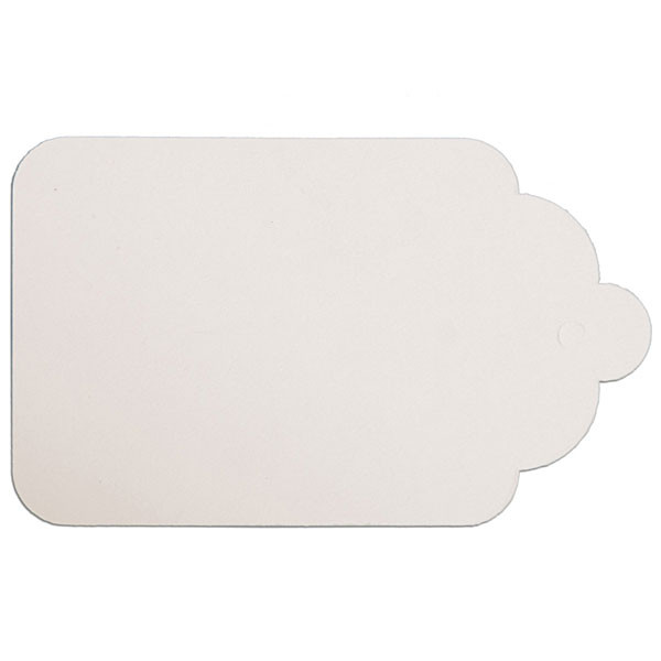 "Merchandise tag #8 without string 1-5/8""x2-5/8"" - white"