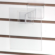 """Acrylic slatwall sign holder 5-1/2""""w x 7""""h with 6"""" extender"""