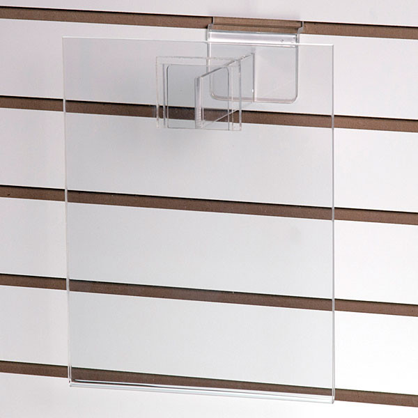 """Acrylic slatwall sign holder 8-1/2""""w x 11""""h with 6"""" extender"""