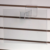 """Acrylic slatwall sign holder 11""""w x 8-1/2""""h with 6"""" extender"""