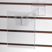"""Acrylic slatwall sign holder 5-1/2""""w x 7""""h with 12"""" extender"""