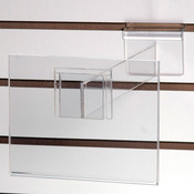 """Acrylic slatwall sign holder 7""""w x 5-1/2""""h with 12"""" extender"""