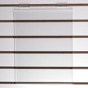 "Acrylic slatwall sign holder 11""w x 14""h x 1/8""thick"