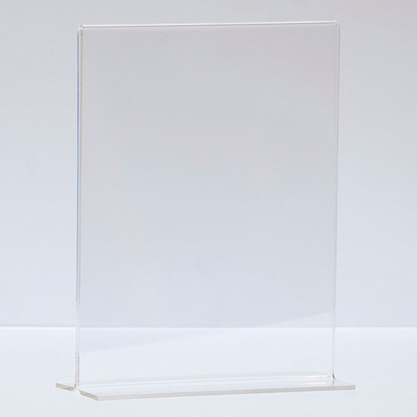 """Bottom load acrylic sign holder counter top - 5-1/2""""w x 7""""h"""