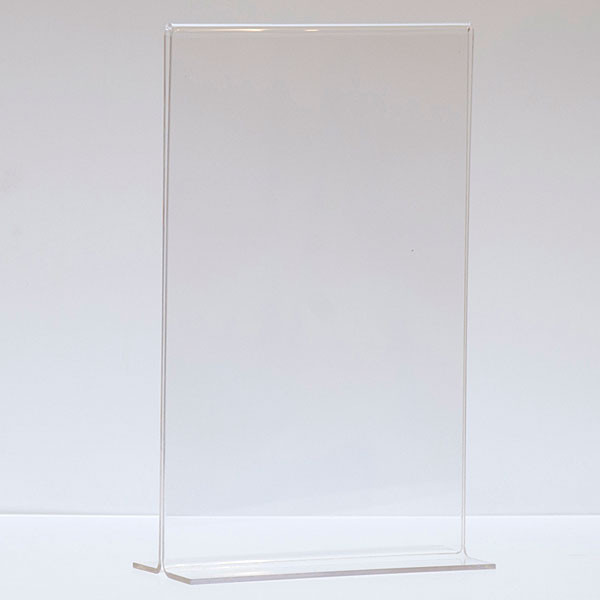 "Bottom load acrylic sign holder counter top - 7""w x 11""h"