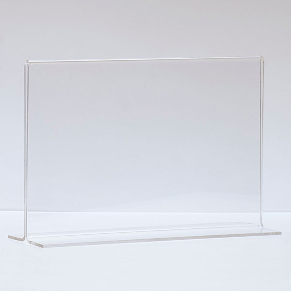 "Bottom load acrylic sign holder counter top - 11""w x 7""h"