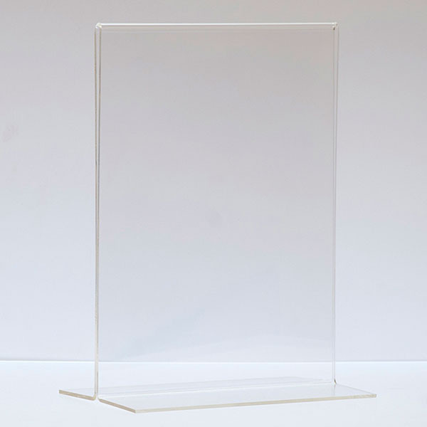 """Bottom load acrylic sign holder counter top - 8-1/2""""w x 11""""h"""