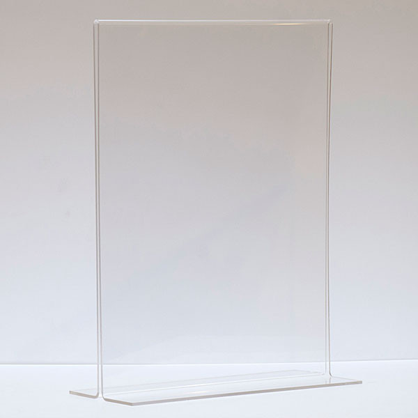 """Bottom load acrylic sign holder counter top - 11""""w x 14""""h"""
