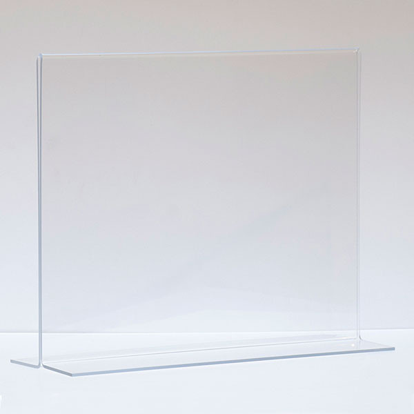 """Bottom load acrylic sign holder counter top - 14""""w x 11""""h"""