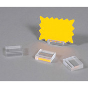 "Acrylic business card holder 1-1/4"" x 1""w x 3/8""h - clear"