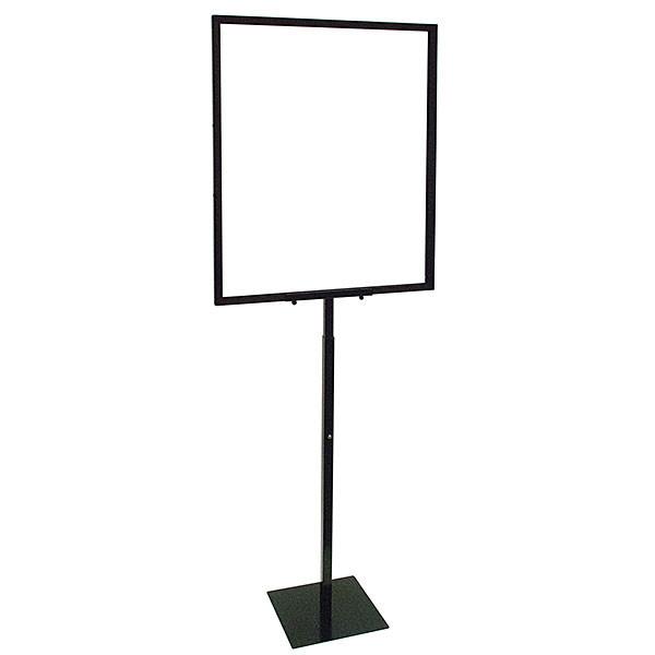 Adjustable 22x28 sign holder w/ Removable Head - Black