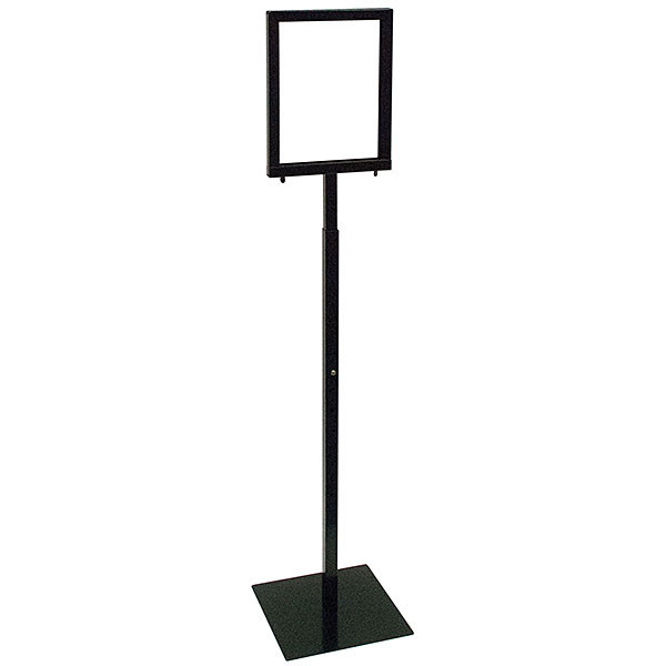 Adjustable 8-1/2 x 11 sign holder w/ Removable Head - Black