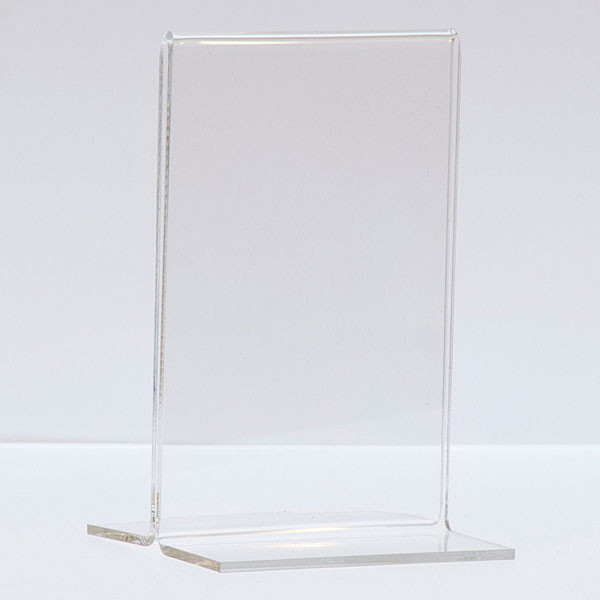 """Bottom load acrylic sign holder counter top - 3-1/2""""w x 5-1/2""""h"""