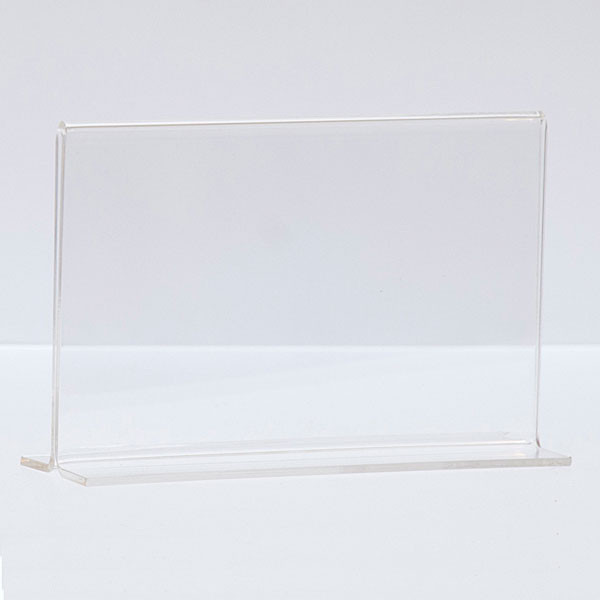 """Bottom load acrylic sign holder counter top - 5-1/2""""w x 3-1/2""""h"""