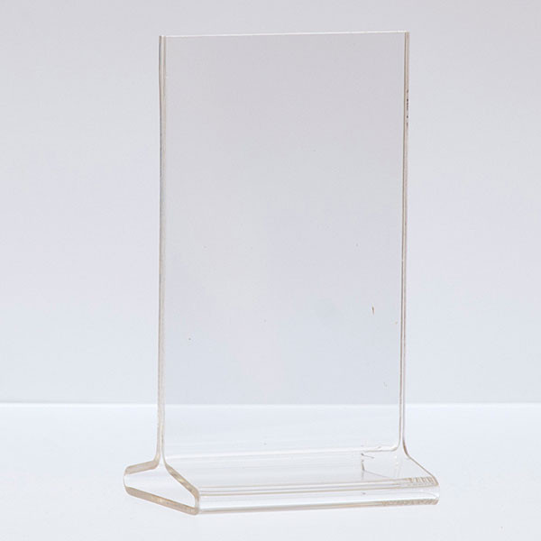 "Top load acrylic sign holder 3-1/2""w x 5-1/2""h"