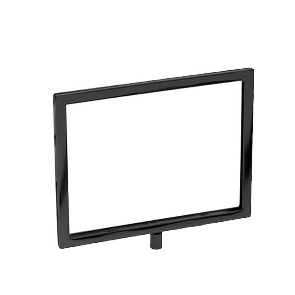 Mitered sign holder - Black 5.5w x 7h