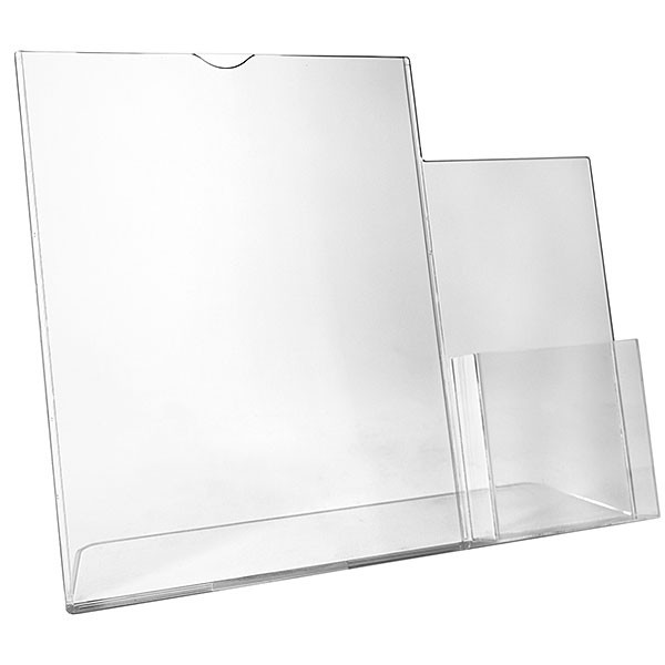 Sign Holder with Acrylic Literature Card Holder