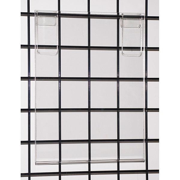 "Acrylic grid sign holder 11""w x 14""h x 1/8""t"