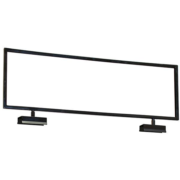 Sign holder 22w x 7h topper fits square tube - black