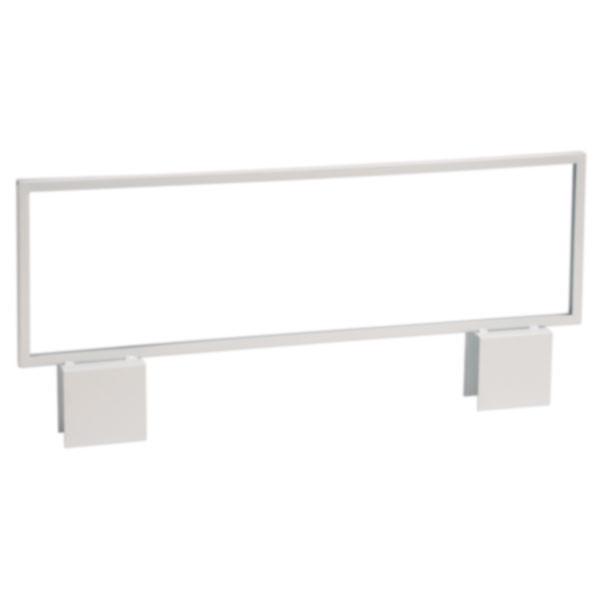 Slatwall H Unit Metal Sign Holder - White 22 x 7