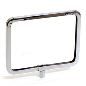 "Metal sign holder frame with rounded corners 7""w x 5-1/2""h - chrome"