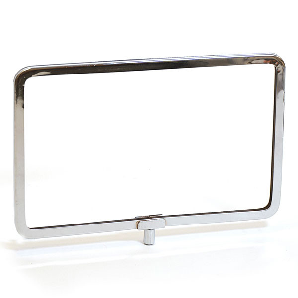 "Metal sign holder frame with rounded corners 11""w x 7""h - chrome"