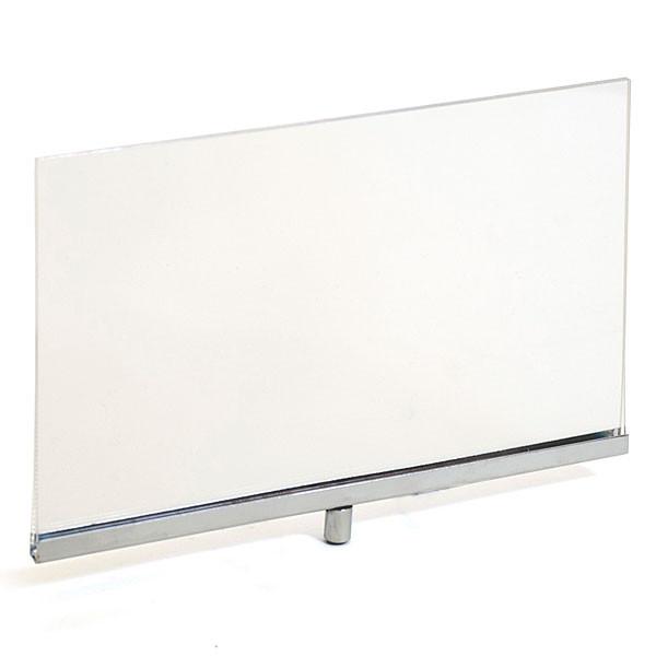 """Acrylic sign holder frame 7""""w x 5-1/2""""h - clear/chrome"""