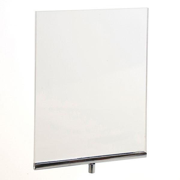 """Acrylic sign holder frame 8-1/2""""w x 11""""h - clear/chrome"""