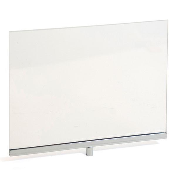 """Acrylic sign holder frame 11""""w x 8-1/2""""h - clear/chrome"""