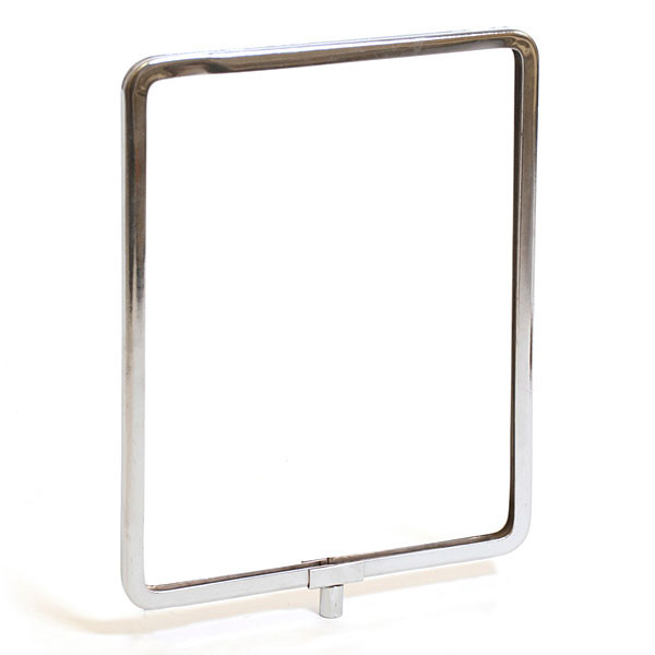 "Metal sign holder frame with rounded corners 8-1/2""w x 11""h - chrome"