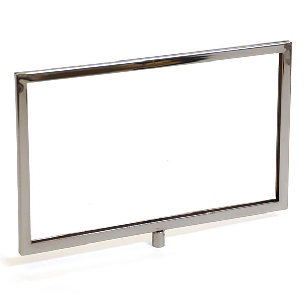 "Sign frame 11""w x 7""h mitered corners - chrome"