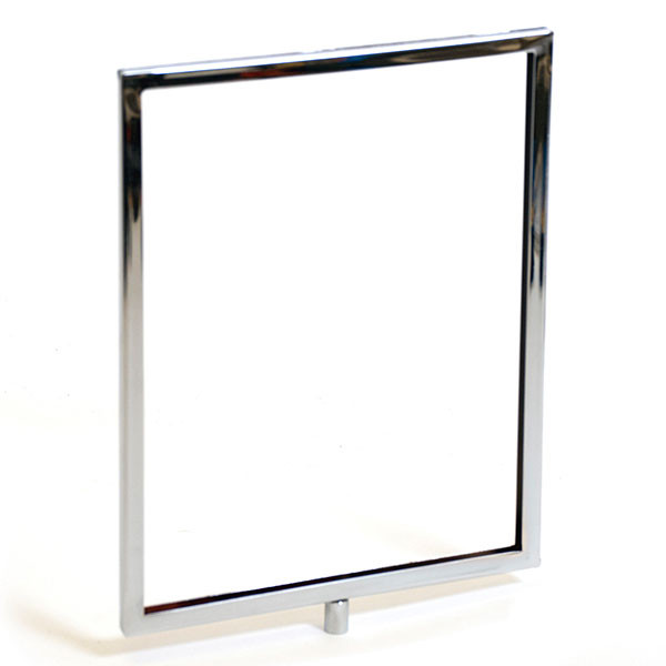 "Sign frame 8-1/2""w x 11""h mitered corners - chrome"