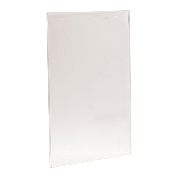 "Acrylic sign holder 22""wx28""h wall mount with mounting holes - clear"