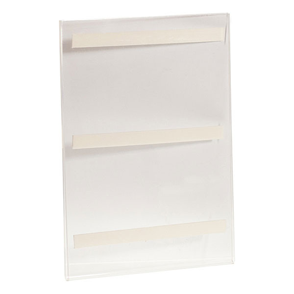 """Acrylic sign holder 8-1/2""""wx11""""h wall mount with foam tape - clear"""