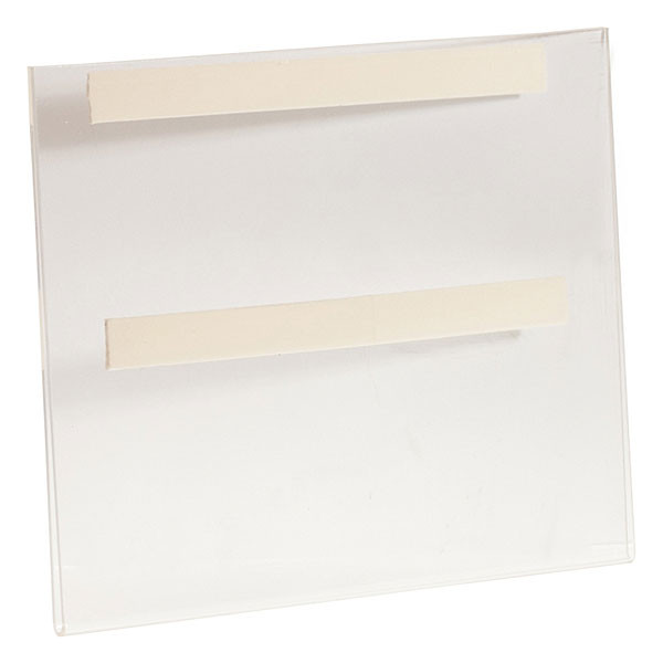 "Acrylic sign holder 11""wx8-1/2""h wall mount with foam tape - clear"