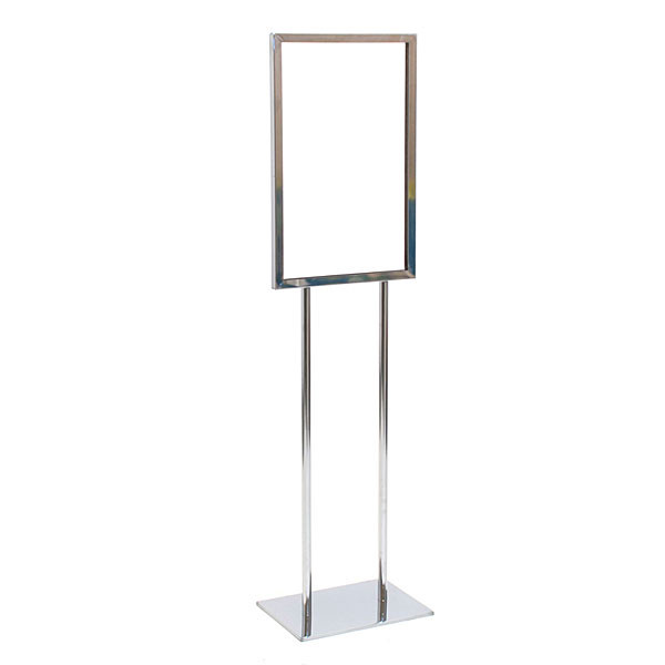 "Floor standing sign holder 14""x22"" - chrome"