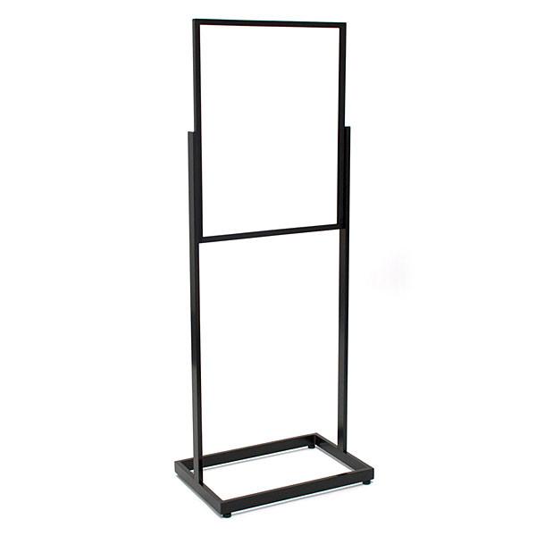"""Floor standing sign holder 22""""x28"""" rectangular tube - black"""