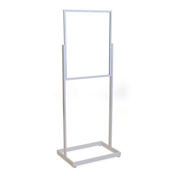 """Floor standing sign holder 22""""x28"""" rectangular tube - white"""