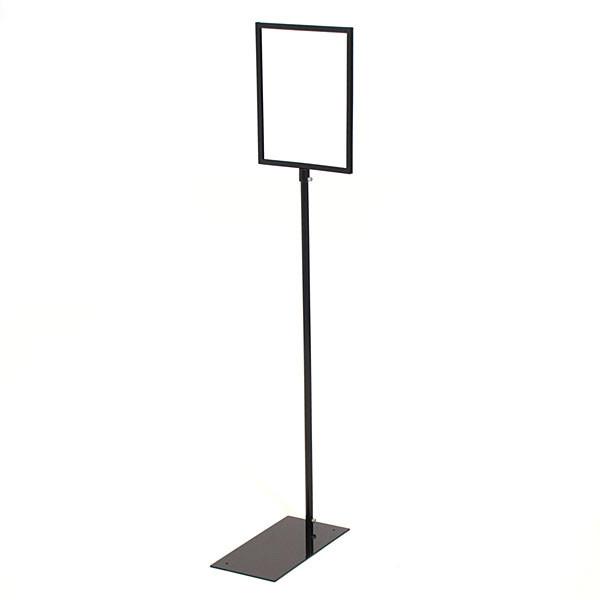 """Sign holder floor standing 8-1/2""""w x 11""""h - black metal"""