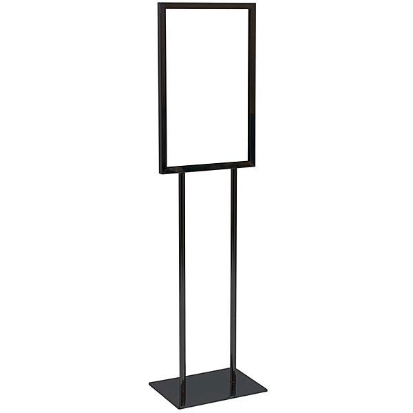 Floor standing bulletin sign holder 14x22 - black