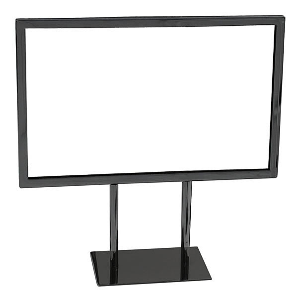 Metal countertop sign frame 11w x 7h - black