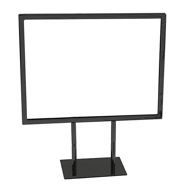 Metal countertop sign frame 11w x 8-1/2h - black