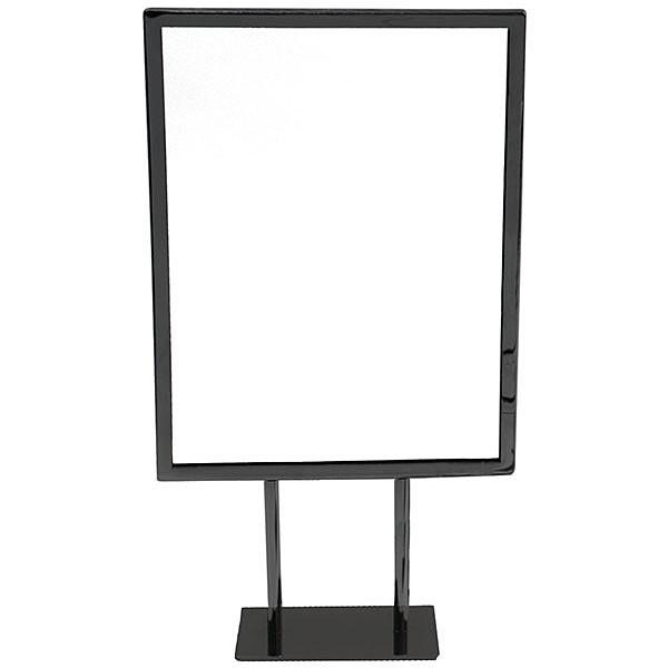 Metal countertop sign frame 8-1/2w x 11h - black