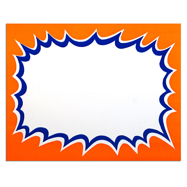 "Sign card blank 7""x 5-1/2"" 100/pack"