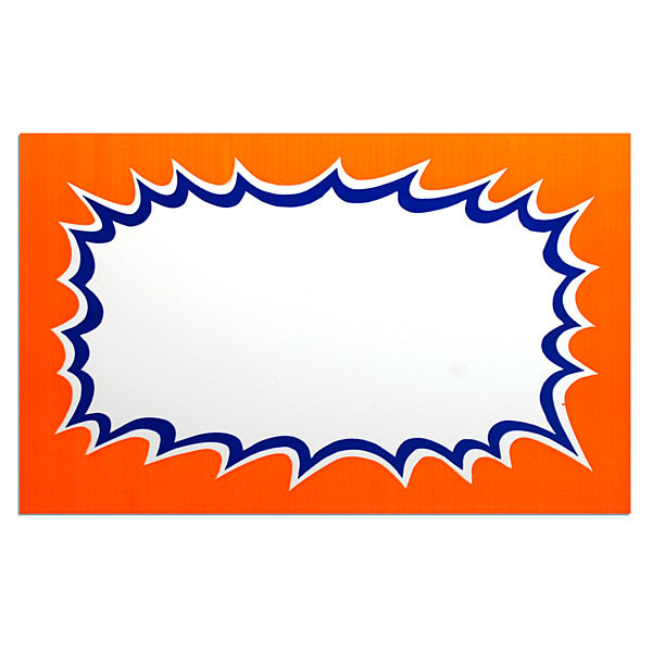 """Sign card blank 11""""x 7"""" 100/pack"""