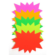 Sunburst sign card 3x5 blank - 5 fluorescent colors 100/pack